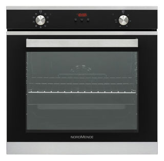 Picture of NordMende B/I 78L S/Steel & Black Glass Multifunction Oven with Catalytic Digital Programmer