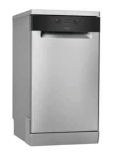 Picture of Whirlpool Freestanding Dishwasher 45cm Slimline Stainless Steel