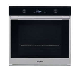 Picture of Whirlpool W Collection 6th Sense Pyro Clean Oven Stainless Steel and Black Glass