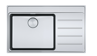 Picture of Franke Mythos Plus Single Bowl Slim-Top Sink with Tap Ledge Stainless Steel RHD