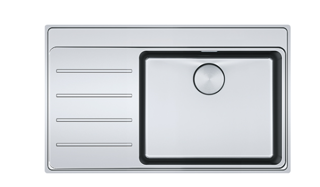 Picture of Franke Mythos Plus Single Bowl Slim-Top Sink with Tap Ledge Stainless Steel LHD