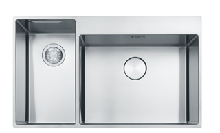 Picture of Franke Box Centre Double Bowl Slim-Top Sink LHSB Stainless Steel