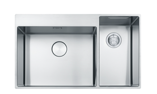 Picture of Franke Box Centre Double Bowl Slim-Top Sink RHSB Stainless Steel