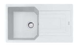 Picture of Franke Urban Single Bowl Inset or Flushmounted Sink Reversible Fragranite Polar White