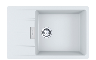 Picture of Franke Centro Single Bowl Inset Sink Reversible Fragranite Polar White