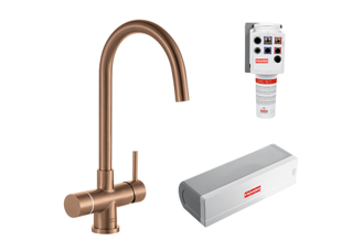 Picture of Franke Minerva Helix Electronic 4-in-1 Instant Boiling Water Tap Copper