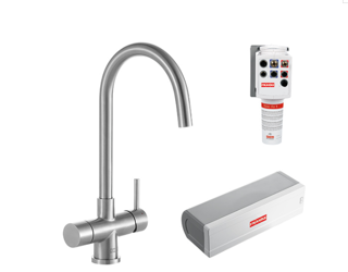 Picture of Franke Minerva Helix Electronic 4-in-1 Instant Boiling Water Tap Stainless Steel