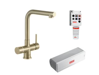 Picture of Franke Minerva Mondial Electronic 4-in-1 Instant Boiling Water Tap Champagne Gold