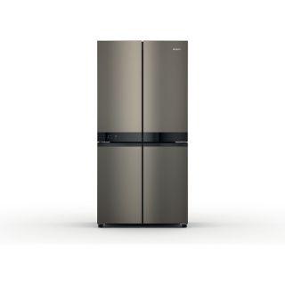 Picture of Hotpoint Freestanding 90cm 4 Door Frost Free Fridge Freezer Black Steel