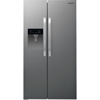 Picture of Hotpoint Freestanding American Side by Side Frost Free Fridge Freezer Plumbed Ice & Water Stainless Steel
