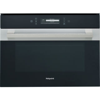 Picture of Hotpoint Built-in Series 9 Combi Microwave Oven 45cm Black Glass