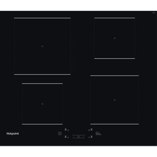 Picture of Hotpoint 60cm 4 Zone Induction Hob Black Glass