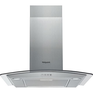 Picture of Hotpoint 60cm Curved Glass Chimney Hood Stainless Steel