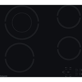 Picture of Hotpoint 60cm 4 Zone Touch Control Ceramic Hob Black Glass
