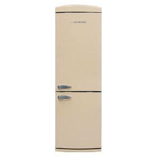 Picture of NordMende 605mm Freestanding Retro 1901mm Tall NoFrost Fridge Freezer Gloss Cream