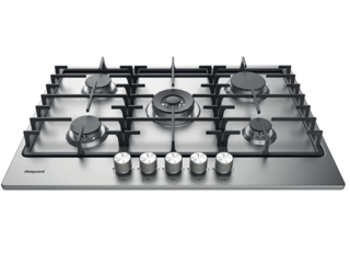 Picture of Hotpoint 75cm 5 Zone Gas Hob Stainless Steel