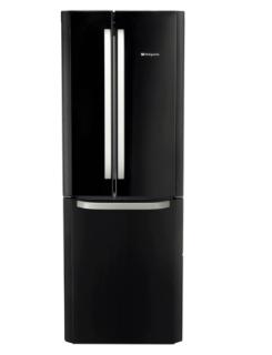 Picture of Hotpoint Freestanding 70cm 3 Door Frost Free Fridge Freezer Black