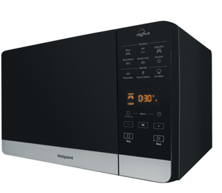 Picture of Hotpoint Freestanding 25L Microwave + 800W Grill + Crisp Plate Black