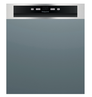 Picture of Hotpoint 60cm Semi-Integrated Dishwasher Stainless Steel
