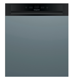 Picture of Hotpoint 60cm Semi-Integrated Dishwasher Black