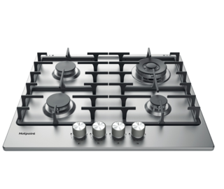 Picture of Hotpoint 60cm 4 Zone Gas Hob Stainless Steel