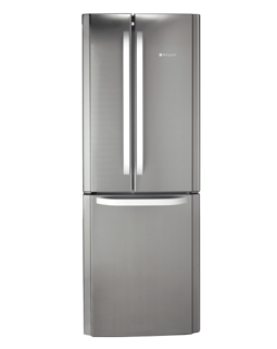 Picture of Hotpoint Freestanding 70cm 3 Door Frost Free Fridge Freezer Stainless Steel