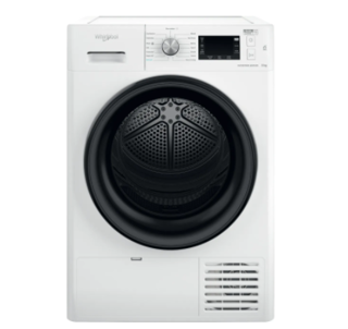 Picture of Whirlpool Freestanding 9kg FreshCare+ Heat Pump Dryer 6th Sense White A++ Energy