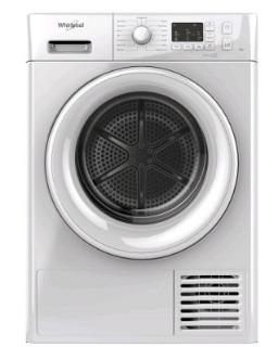 Picture of Whirlpool Freestanding 8kg FreshCare+ Condenser Dryer 6th Sense White B Energy