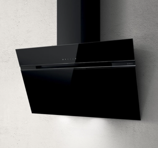 Picture of Elica 80cm Stripe Vertical Hood Black Glass