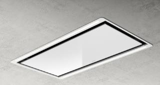 Picture of Elica 100cm Hi Light-W Ceiling Hood White Glass + Frame